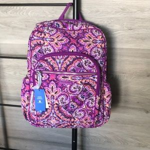 NWT-Vera Bradley Iconic Campus Backpack Dream Tap